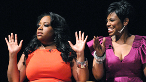 PHOTO Sherri Shepherd, left, and Jacque Reid talk about being successful, black and sin
