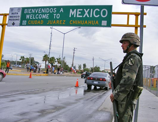 Photo: Mexican border violence