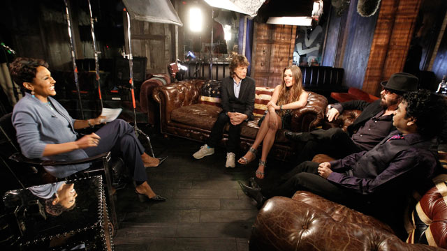 "PHOTO: SuperHeavy, the band comprised of Mick Jagger, Joss Stone, ex-Eurythmic Dave Stewart, reggae artist Damian Marley and A.R. Rahman, sat down for an interview with ""Good Morning America"" anchor Robin Roberts to discuss their collaboration."
