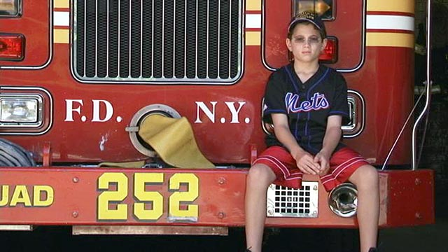 PHOTO: Now almost 10 years old, family members say Patrick Lyons bears an eerie resemblance to his late father, a NY firefighter who died on 9/11.
