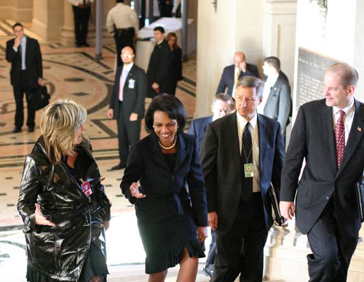 Cynthia McFadden Vist With Condoleezza Rice