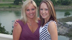 PHOTO Caitlin Clemons, 18, used the same plastic surgeon as her mother, Tina Clark, for her breast augmentation.