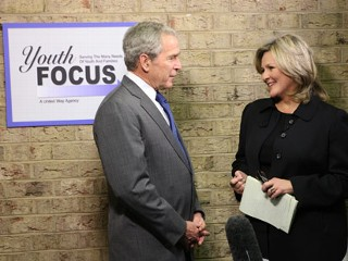 Photo: President George W. Bush and
