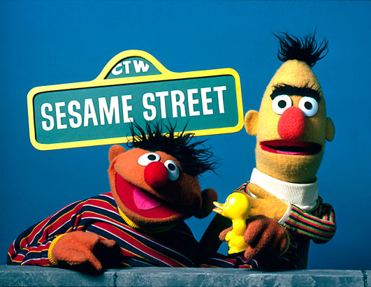 Sesame Street 40th Anniversary Bert and Ernie