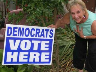 Pic: Terralita Maverick, of Texas, is an Obama supporter.