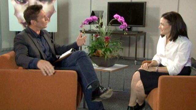 "PHOTO: Facebook COO Sheryl Sandberg sits down for an interview with ""Nightline"" anchor Bill Weir."
