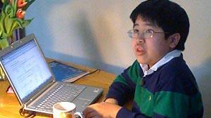 Photo: Freshman at the University of Washington, Raymond Zhang