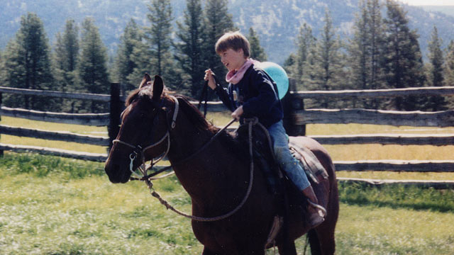 PHOTO: Prince William, 10, is shown at a dude ranch in Montana, in this never-before-seen photo.