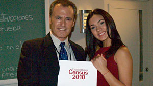 Photo: Telemundo encouraging Hispanics to fill out the census