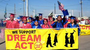 POHTO Arizona college students rally in support of the DREAM Act through the streets of downtown Phoenix in 2008.