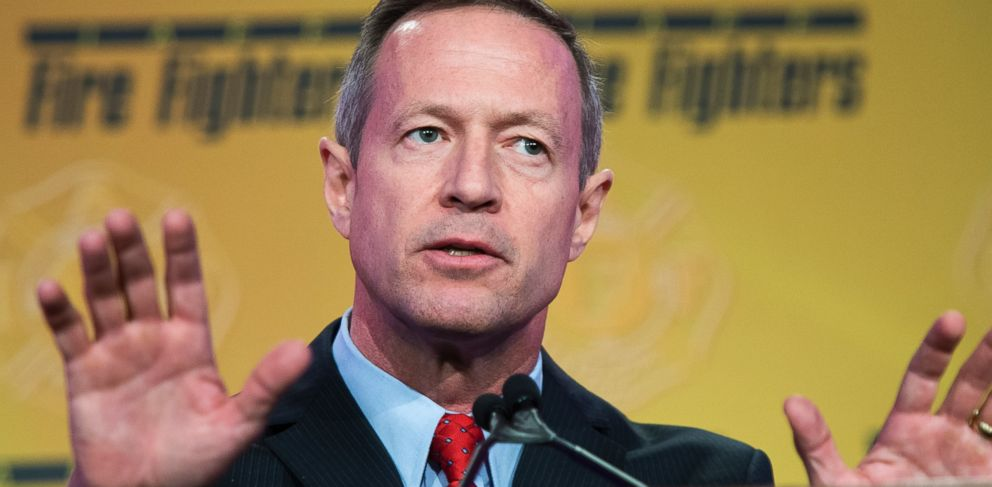 PHOTO: Martin OMalley is pictured speaking during the International Association of Fire Fighters Presidential Forum at the Hyatt Regency on Capitol Hill in Washington, D.C. on March 10, 2015.