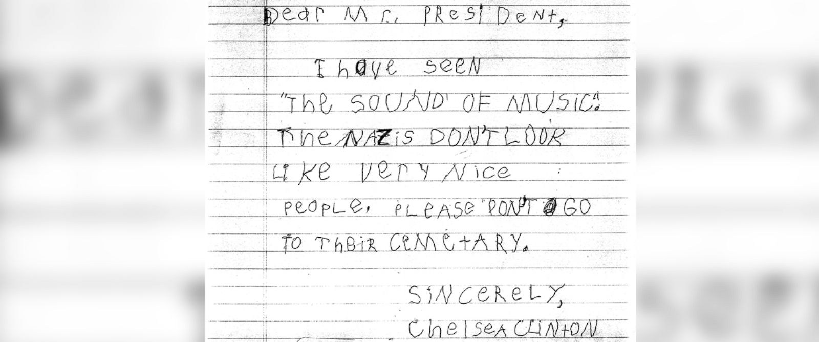 PHOTO: Chelsea Clinton wrote letter to President Ronald Reagan when she was 5 years old.