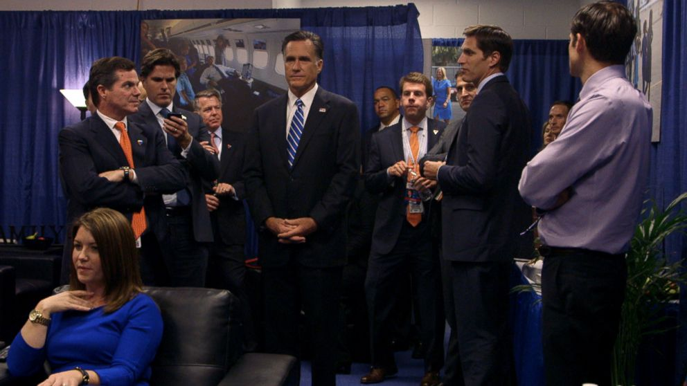 PHOTO: Mitt Romney, center, is pictured in the Netflix documentary Mitt.
