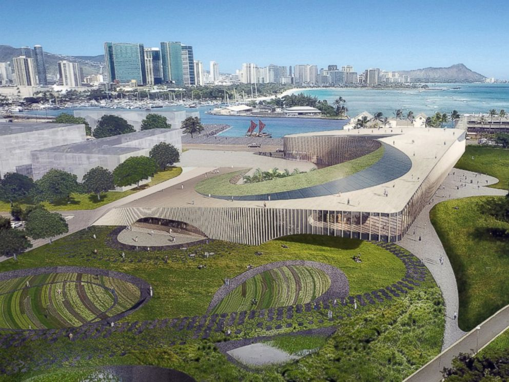 PHOTO: Artists Rendition Of Proposed Obama Presidential Center In Honolulu,  Hawaii, Designed By