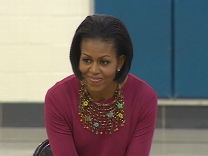 Video of Michelle Obama discussing immigration with 2nd graders