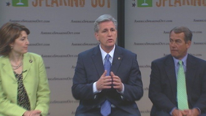 Video of House Republicans launching 'America Speaking Out' initiative.