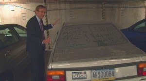 VIDEO of ABC News Jonathan Karl reporting on Former Congresswoman Melissa Harts abandoned Jetta