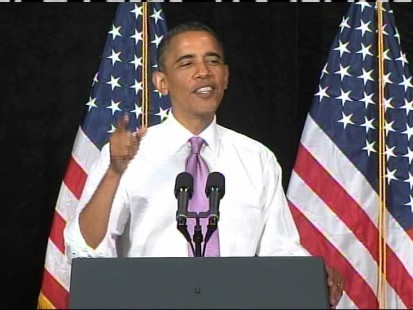 VIDEO of The President coming out swinging at an event for Sen. candidate Robin Carnahan