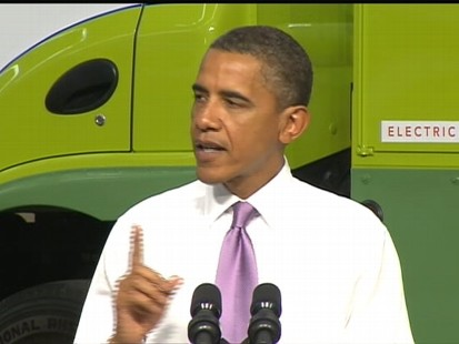VIDEO of Obama Heralding an Electric Vehicle Company in Missouri