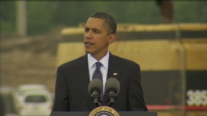 VIDEO of Obama visiting a MI battery plant breaking ground thanks to the Recovery Act