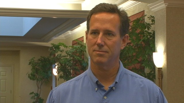 VIDEO of Senator Rick Santorum talking 2012 politics