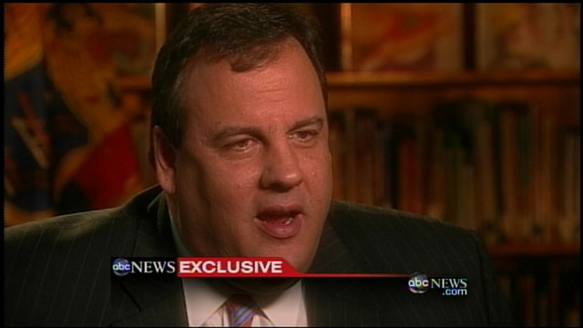 VIDEO of Gov. Chris Christie with Diane Sawyer