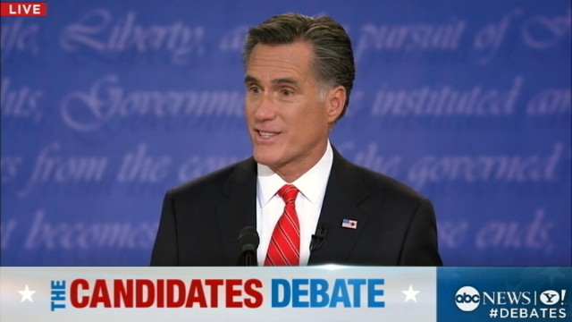 VIDEO: Presidential Debate: Mitt Romney Attacks Obamacare