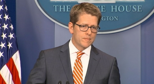 "Jay Carney debates White House Press corps, says Obama administration ""didnt create the internet."""