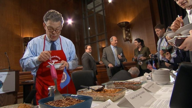 VIDEO: Ready, Set, Cook! Al Franken Brings Minnesota Hotdishes to D.C.
