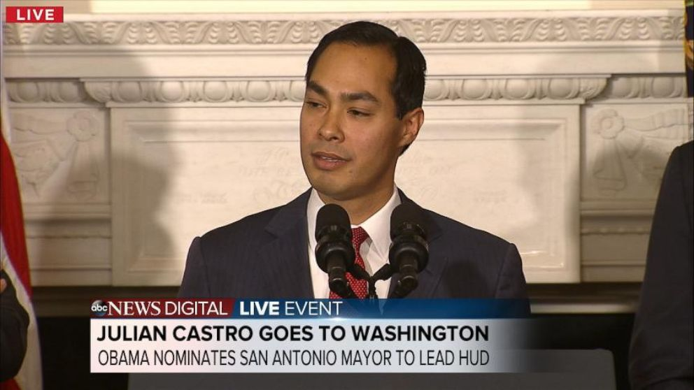 Obama Nominates Julian Castro as HUD Secretary