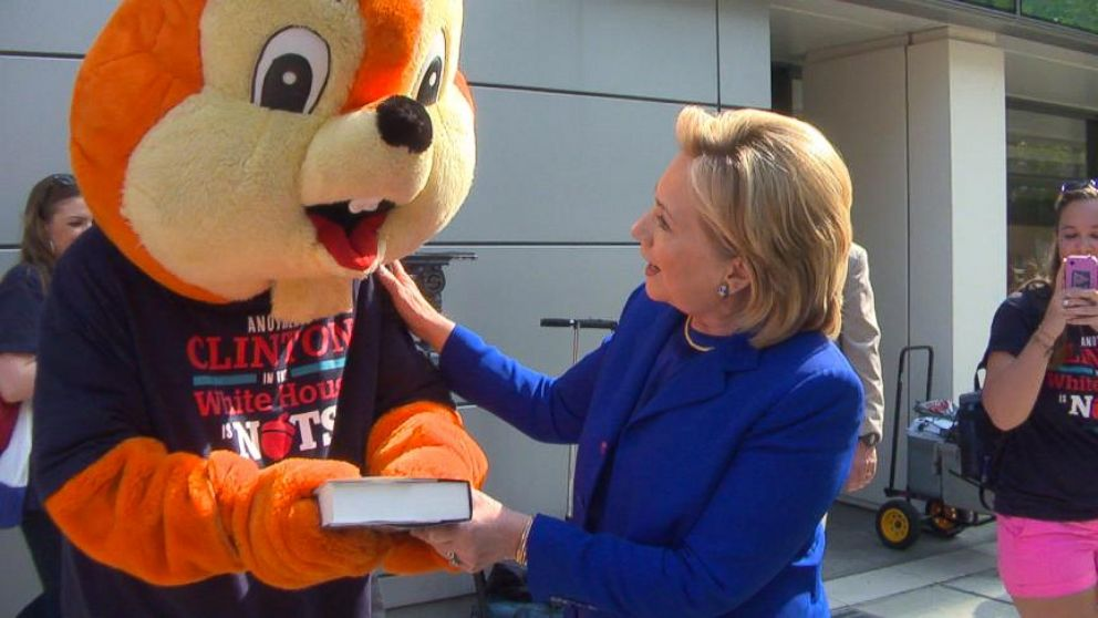 VIDEO: Hilary Clinton Gives Her Book to Republican Squirrel
