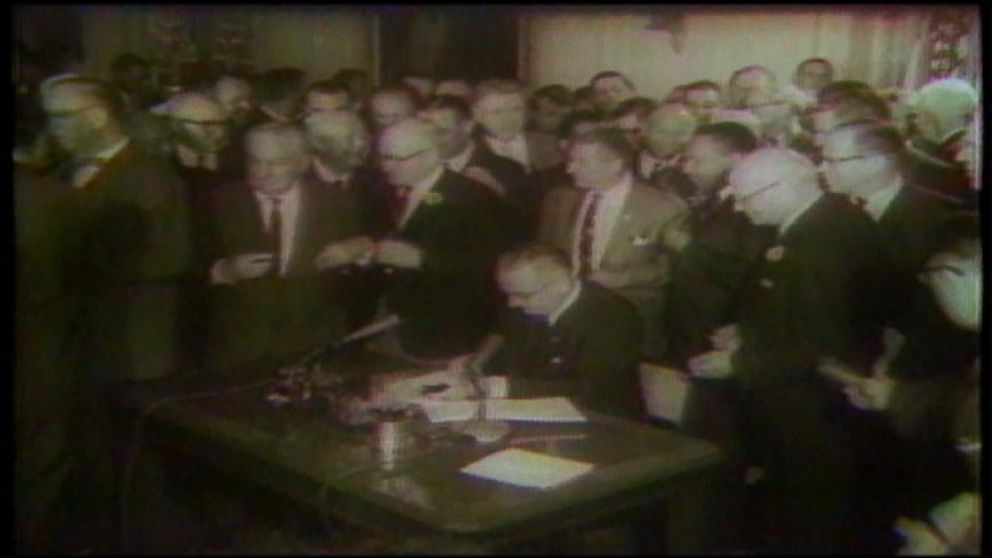 VIDEO: This Day and History: LBJ Signs Civil Rights Act