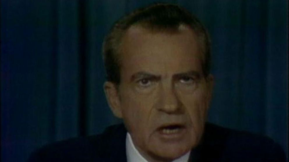 VIDEO: Nixon announced decision to step down amid Watergate scandal on Aug. 8, 1974.