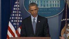 VIDEO: The president said the grand jurys decision in Ferguson, Missouri, must be respected despite anger.