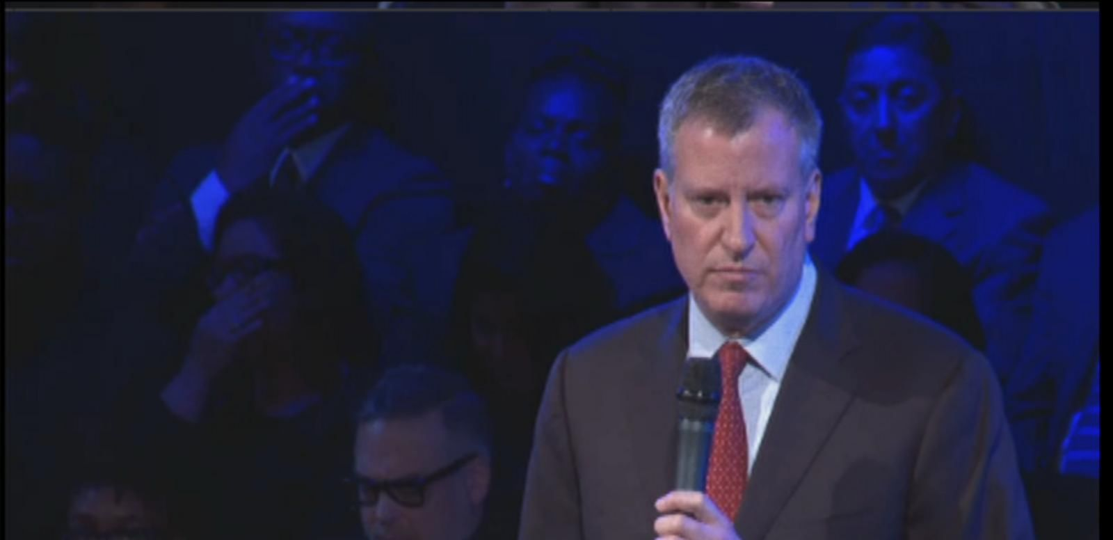 VIDEO: NYC Mayor Bill de Blasio Delivers Remarks at Slain NYPD Officer's Funeral