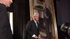 VIDEO: Portraits of the former president and first lady were unveiled on April 24, 2006.