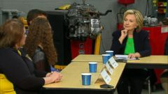 VIDEO: Hillary Clinton Holds 1st Campaign Event in Iowa