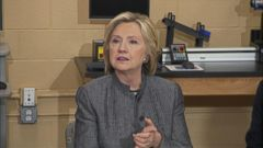 VIDEO: Hillary Clinton Hits the Granite State