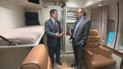 VIDEO: Doctors traveling with the president are available to provide medical treatment. The plane has a fold-out operating table and special lights to provide care as needed.