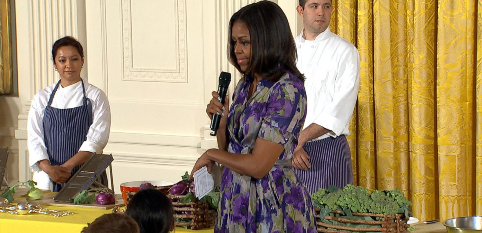 VIDEO: White House Garden Harvest: Michelle Obama Tells Kids To Eat Their Veggies
