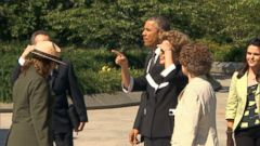 VIDEO: Obama gave President Dilma Rousseff a tour of the MLK Memorial.
