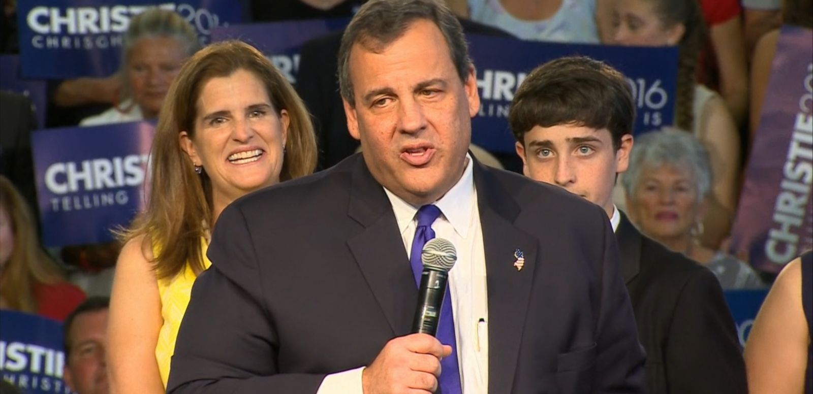 VIDEO: The New Jersey governor is the 14th Republican to enter the 2016 race for the White House.
