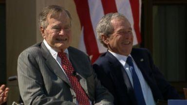 former president george hw bush hospitalized video abc news