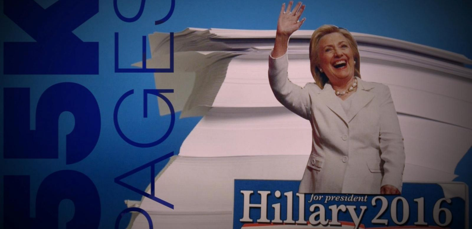 VIDEO: A Whole Lot Of Paper: Hillary Clintons 55,000 Pages of Emails