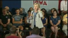 VIDEO: The Democratic presidential candidate is expected to reveal more details of her climate change proposal while campaigning in Iowa.