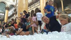 VIDEO: Check Out the New Public Ball Pit in Washington, DC