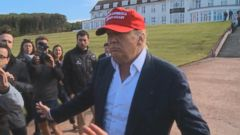 VIDEO: Just as he arrives in Scotland at his golf course which is hosting the womens British Open, Donald Trump finds himself atop a new poll amongst 2016 GOP candidates.