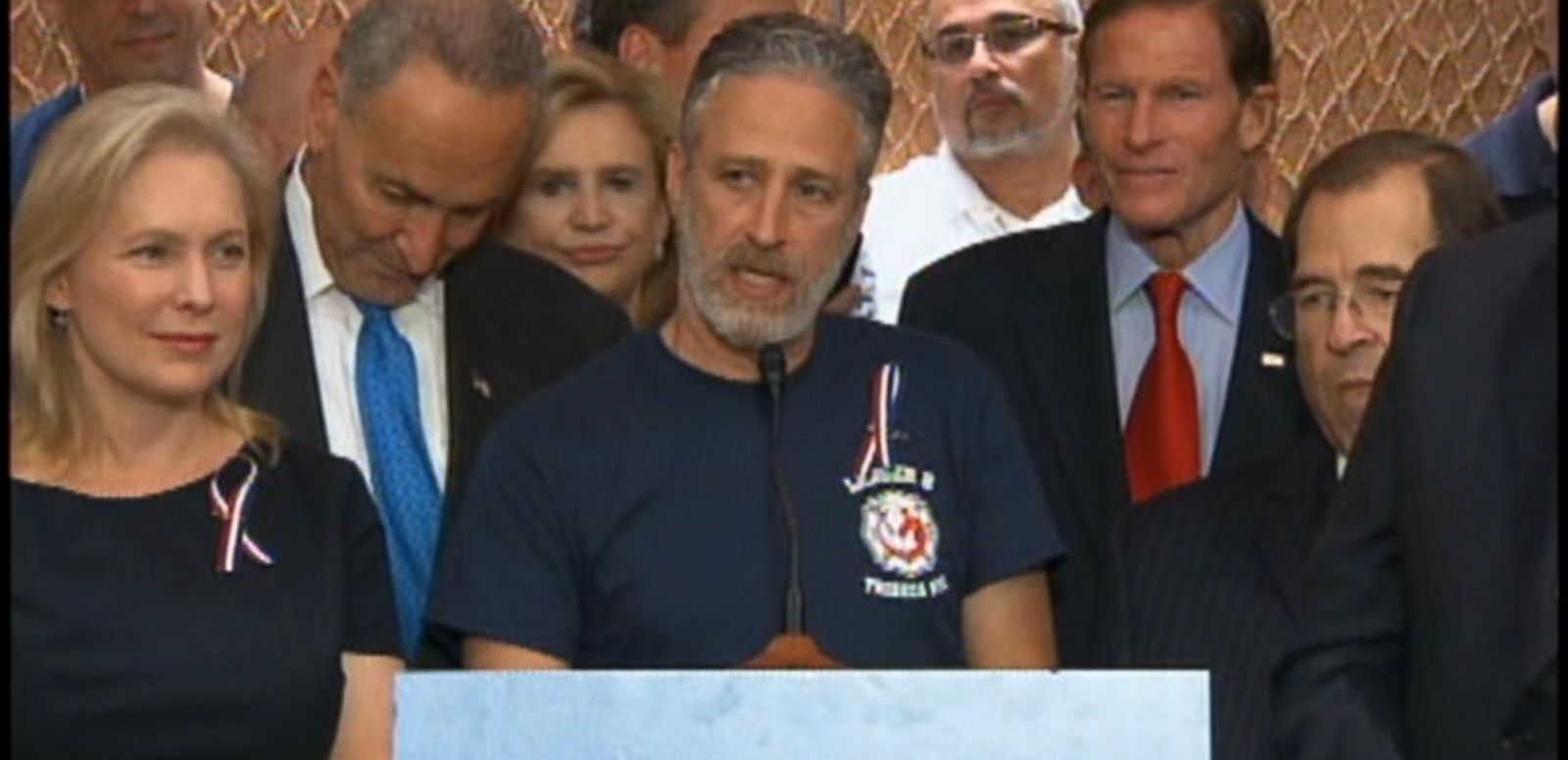 "VIDEO: The former ""Daily Show"" traveled to Washington to support extension of the James Zadroga 9/11 Health and Compensation Act."