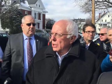 Watch:  Sen. Bernie Sanders and his wife, Jane, Stop at Concord, NH Polling Place
