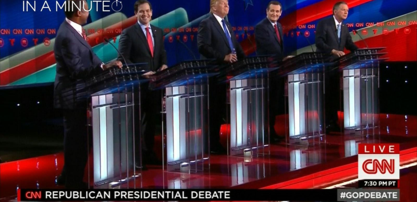 VIDEO: Tenth Republican Presidential Debate In A Minute